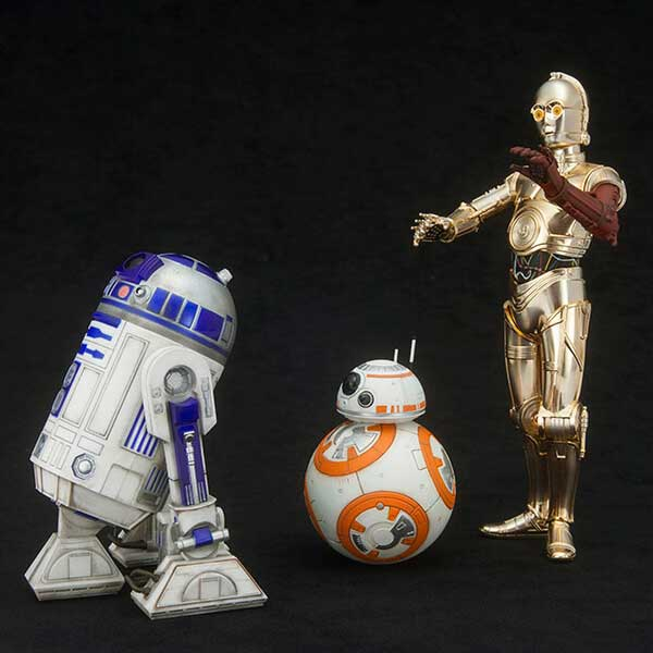 r2d2 and c3po meet bb8 droid
