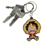 LLAVERO ONE PIECE MONKEY D. LUFFY PVC