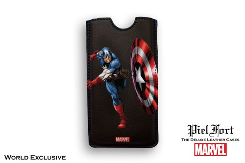 FUNDA CAPITAN AMERICA MARVEL TRAJE CLÁSICO IPHONE 5 BORDES CUADRADOS