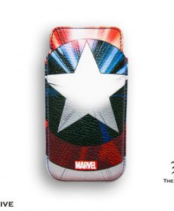 FUNDA CAPITÁN AMÉRICA ESCUDO MARVEL IPHONE 5 BORDES REDONDEADOS