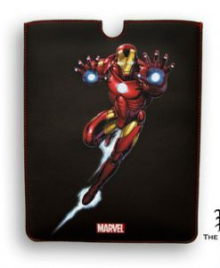 FUNDA IRON MAN LUCHANDO MARVEL IPAD 2 Y 3 BORDES CUADRADOS