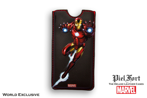 FUNDA IRON MAN LUCHANDO MARVEL IPHONE 4 BORDES CUADRADOS