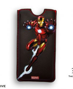 FUNDA IRON MAN LUCHANDO MARVEL IPHONE 5 BORDES CUADRADOS