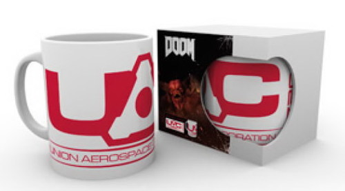 TAZA DOOM LOGO UNION AEROSPACE CORPORATION ( UAC )