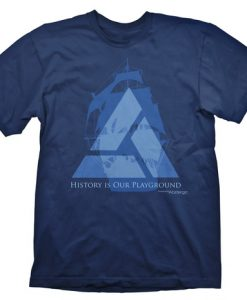 CAMISETA ASSASSINS CREED 4 INDUSTRIAS ABSTERGO LOGO BARCO