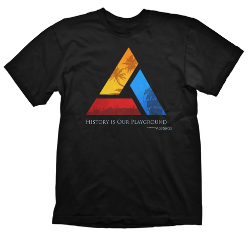 CAMISETA ASSASSINS CREED 4 INDUSTRIAS ABSTERGO LOGO