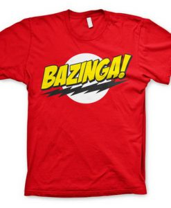 CAMISETA BIG BANG THEORY BAZINGA SHELDON COOPER FRASE