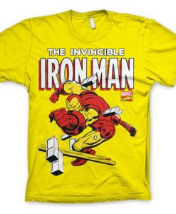 CAMISETA IRON MAN CLÁSICO INVENCIBLE MARVEL CÓMICS