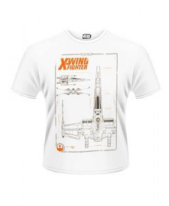 CAMISETA STAR WARS NAVE X-WING PLANOS