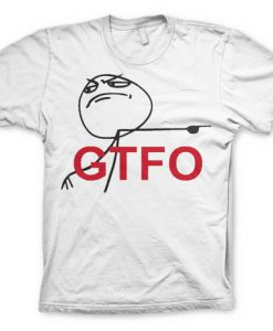 CAMISETA TROLL FACE GTFO | GET THE FUCK OUT