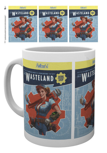TAZA FALLOUT 4 CARTEL WASTELAND CERÁMICA
