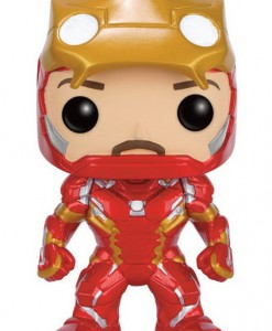 FIGURA FUNKO POP IRON MAN CASCO LEVANTADO MARVEL CÓMICS