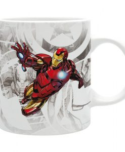 TAZA IRON MAN LOS VENGADORES MARVEL CÓMICS