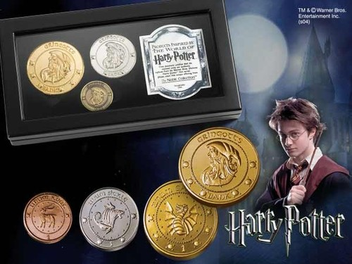 HARRY POTTER MONEDAS BANCO GRINGOTTS