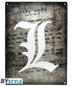 POSTER METÁLICO DEATH NOTE L