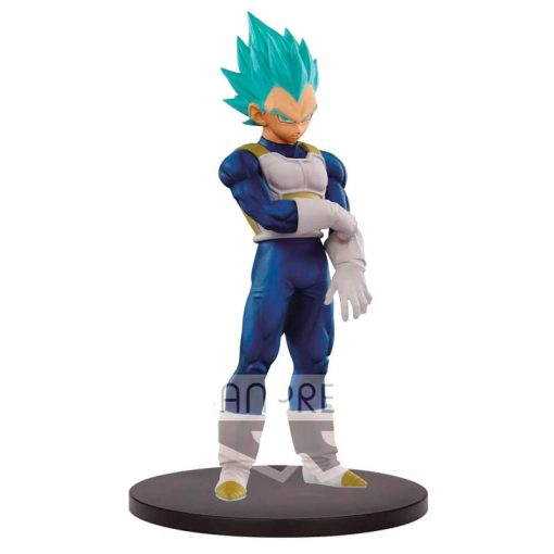 FIGURA SUPER SAIYAN BLUE VEGETA THE SUPER WARRIORS DRAGON BALL Z DXF 18 CM